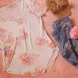 Comfortable Floral Top